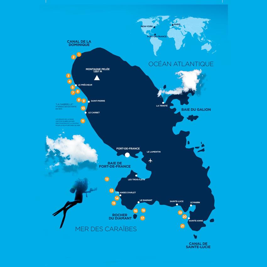Martinique Dive sites