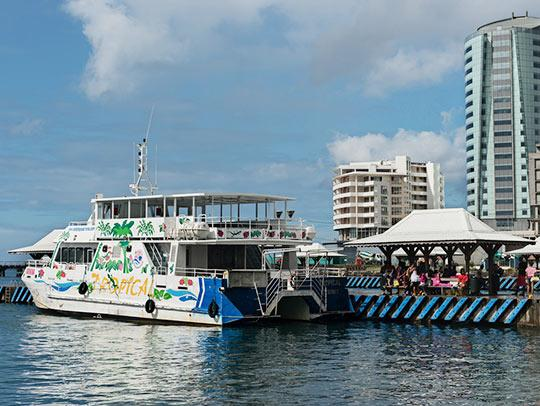 Ferry boat in Martinique
