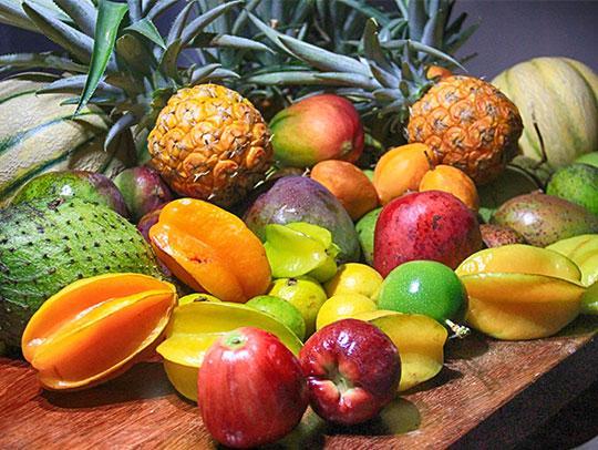 Quelques fruits exotiques